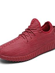 Femme-Décontracté / Sport-Noir / Vert / Rouge-Talon Plat-Ballerines-Chaussures d'Athlétisme-Microfibre