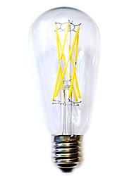 12W E26/E27 LED лампы накаливания ST64 12 COB 1100 lm Тёплый белый Водонепроницаемый AC 220-240 V 1 шт.
