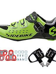 Sapatilhas de Ciclismo com Travas & Pedal Unisexo Almofadado Bicicleta de Estrada
