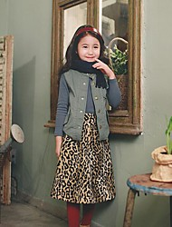 Girl's Holiday Leopard SkirtPolyester Winter / Spring / Fall Beige