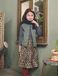 Mädchen Rock-Urlaub Leopard Polyester Winter / Frühling / Herbst Beige