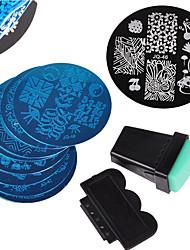 Nail Art Stamping Placa Stamper raspador 5.5CM