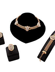 MOGE Ms. European And American Fashion Jewelry Sets / Necklace / Earrings / Bracelet / Ring