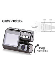 Tachograph Dual Lens / HD Wide-Angle Rear-View / Night Vision Monitoring Recorder