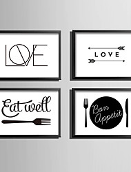 E-HOME® Framed Canvas Art, Love And Tableware Theme Series Framed Canvas Print One Pcs
