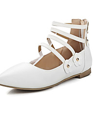 Women's Flats Spring / Summer / Fall Comfort Leatherette  / Party & Evening / Dress / Casual Flat Heel OthersBlack