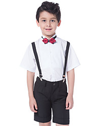 Children Gentleman Suit Kids Boy's Cotton ShirtPants 3PCS Suit Outfits Sets Clothes