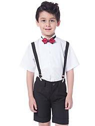 Хлопок Детский праздничный костюм - 3 Куски Включает в себя Рубашка / Брюки / Галстук-бабочка