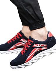 Da uomo-Sneakers-Tempo libero / Ufficio e lavoro / Casual-Punta arrotondata / Stivali-Piatto-Tessuto-Blu / Nero e oro / Nero e bianco