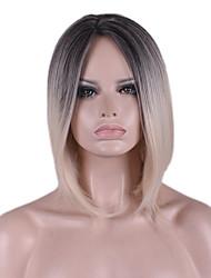 novas cos peruca bobo peruca curta gradiente de preto de 12 polegadas