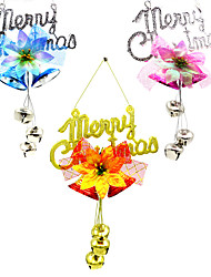 3PCS Christmas Plate Bell Charm Ornaments Tree Rattan Wreath Pendant Christmas Decoration Supplies Home Party Decor