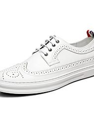 Men's Loafers & Slip-Ons/Baroque Shoes/Leather/Fashion Dress/Flat Heel Slip-on Black/White