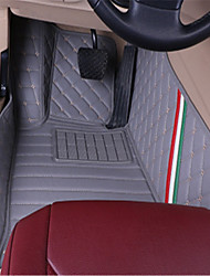Ford Mustang Surrounded By Special Customization Of Luxury Mat MATS Interior Leather Carpet