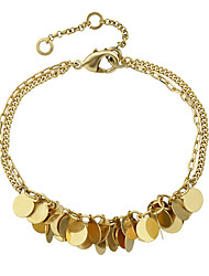 Gold Color Multilayers Chain Link Bracelets