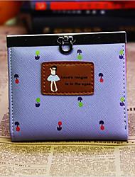 Women Wallet PU Casual White Purple Fuchsia
