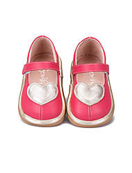 Girl's Loafers & Slip-Ons Spring Fall Suede Casual Flat Heel Magic Tape White Coral Walking
