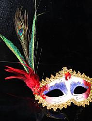 pena de pavão pluma máscara bola partido masquerade máscaras princesa italiana de Veneza Mulher da máscara de decoração de casamento da