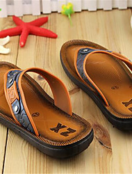 Men's Slippers & Flip-Flops Summer PVC Casual Flat Heel Bowknot Black Brown Other