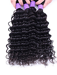 Tejidos Humanos Cabello Cabello Brasileño Ondulado Medio 12 meses 4 Piezas los tejidos de pelo