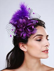 Women's Feather / Net Headpiece-Wedding / Special Occasion / Casual Fascinators 1 Piece
