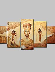 abstrato antigo egípcio pintura a óleo pintados à mão na lona 5pcs / set sem moldura
