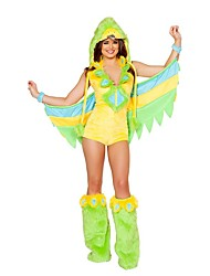 Cosplay Costumes Animal Movie Cosplay Yellow Solid Leotard/Onesie / Leg Warmers / Hat Halloween / Christmas / New Year Female Polyester