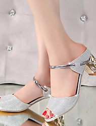 Women's Sandals Summer Ankle Strap PU Party & Evening Casual Chunky Heel Others Silver Gold Others