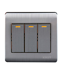 Three Open Single  Control Wall Switch