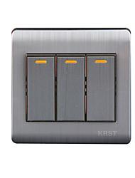 Three Open Single  Control Wall Switch