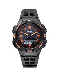 Da uomo Orologio sportivo Digitale Cronometro Plastic Banda Casual Nero Marca