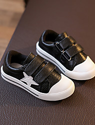 Unisex Sneakers Spring / Fall Flats Leather Outdoor / Athletic / Casual Flat Heel Others Black / White Sneaker