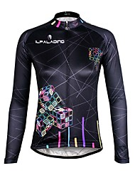 ILPALADINO Cycling Jersey Women's Long Sleeves Bike Jersey Quick Dry Ultraviolet Resistant Breathable Compression Lightweight Materials