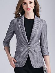 Eosciy® Damen Hemdkragen 3/4 Ärmel Pullover & Cardigan Grau-80307