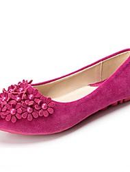 Women's Flats  Comfort / Round Toe / Closed Toe  Casual Flat Heel Imitation PearlBlack / Blue / Yellow /