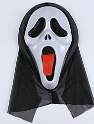 Masque / Pour Halloween Rouge / Blanc Polyester Accessoires de cosplay Halloween / Carnaval