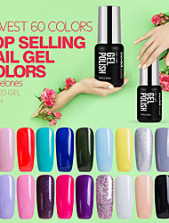 Gel UV para esmalte de uñas 7ml 1 Empapa Brillante Esmalte Gel UV de Color Goma Neutro Empapa de Larga Duración