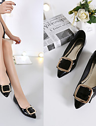 Women's Flats Spring Summer Fall Patent Leather Casual Flat Heel Metallic toe Black Green Pink Other