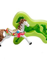 White Horse Cake Decoration Silicone Fondant Mold Baking Sugarcraft Tools Polymer Clay Fimo Chocolate Candy Soap Making