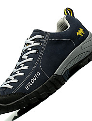 Men's Athletic Shoes Comfort Synthetic Outdoor / Athletic Flat Heel Lace-up Gray / Coffee / Navy Hiking