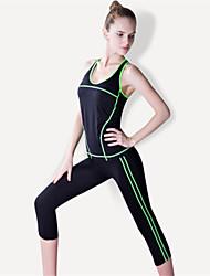 Yoga Survêtement Ensemble de Vêtements Séchage rapide Respirable Compression Confortable Haute élasticité Vêtements de sport FemmeYoga