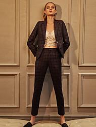 c + impressionner plaid pantssimple bleu business des femmes