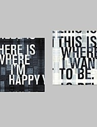 Stretched Canvas Art Words & Quotes Set of 2