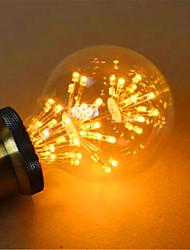 2 E26/E27 Bombillas LED de Globo G80 49 LED Dip 800 lm Amarillo Decorativa AC 100-240 V 1 pieza