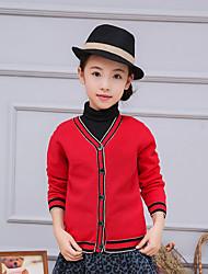 Mädchen Bluse / Pullover & Cardigan-Lässig/Alltäglich einfarbig Acryl / Polyester / Nylon Frühling / Herbst Rot