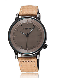 FeiFan Fashion Men's Business Dress Watch Leather Strap Creative Casual Analog Quartz Wrist Watches