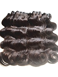 brazilian virgin hair body wave brazilian human hair weaves natural black brown color 10pieces 500g lot 7a grade
