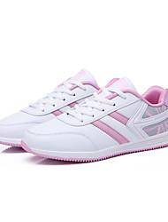 Frauen Laufsportschuhe Frühjahr / Komfort Stoff beiläufige flache Ferse pink / grau Sneaker fallen