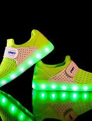 Para Meninos-Tênis-Conforto Light Up Shoes-Rasteiro-Preto Azul Verde Vermelho Cinza-Tule Tecido-Para Esporte