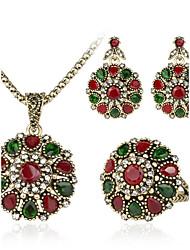 Jóias Colares / Brincos / Anéis Conjunto de Jóias Fashion Diário / Casual 1conjunto Feminino Bronze Presentes de casamento