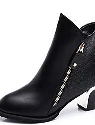Feminino-Botas-Plataforma / Botas de Cowboy / Botas de Neve / Plataforma Básica / Arrendondado / Botas Montaria / Botas da Moda / Botas